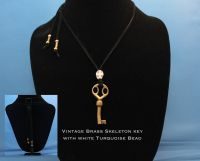 Vintage Brass Skeleton Key