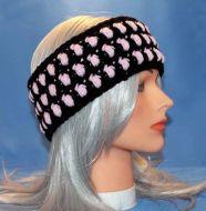Black & Pink Puffs Earwarmer