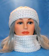 Frosty White Earwarmer & Cowl