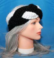 Black & White Braided Earwarmer